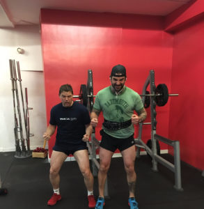 jade and dan at YMCA gym