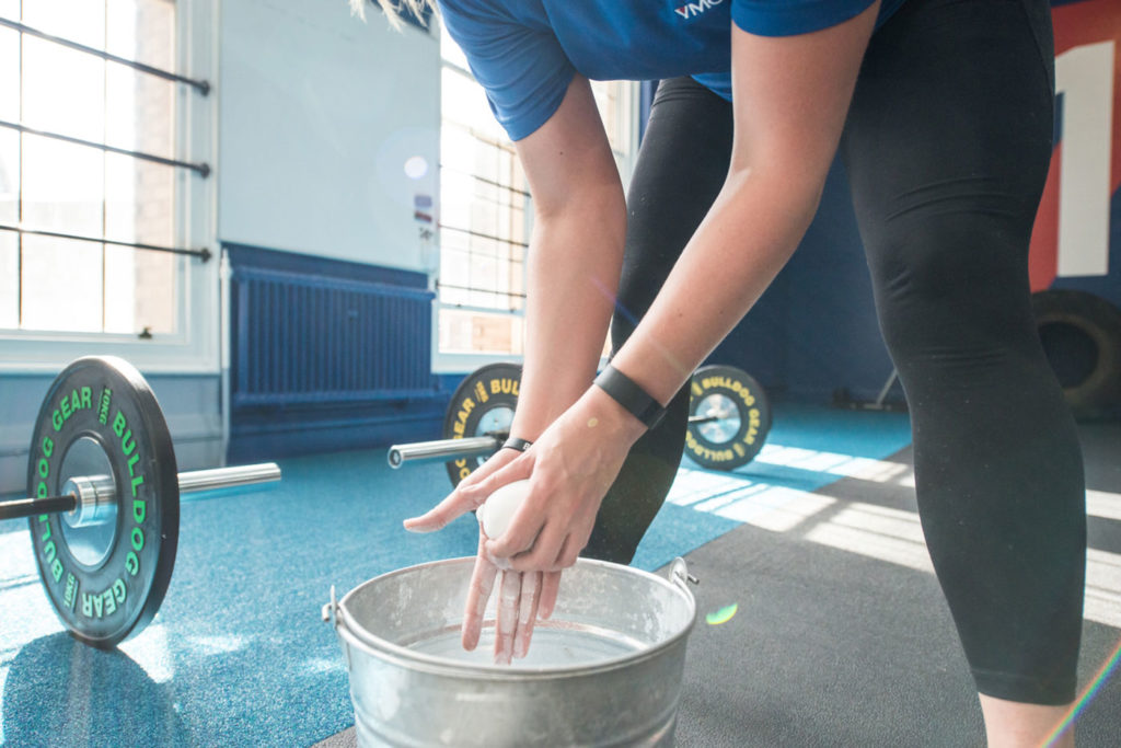 CrossFit - washing hands