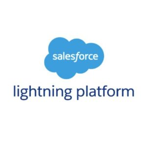 Salesforce logo - Lightning platform
