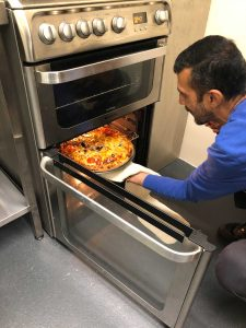 Housing-resident-Halloween-pizza