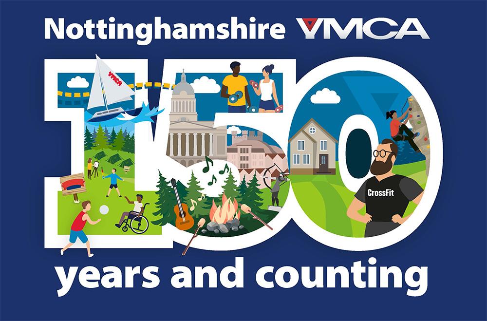 Notts YMCA 150 logo