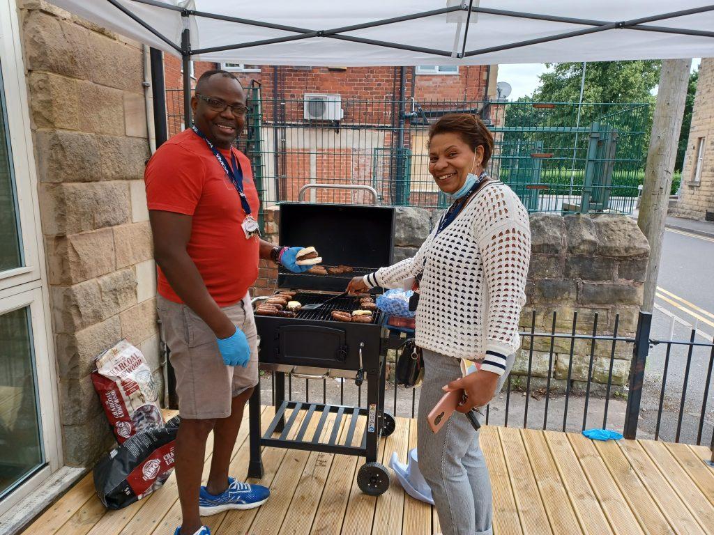 Moses Avutaga and Janice Grant